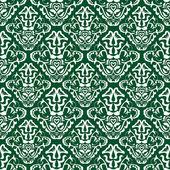 Green wallpaper pattern — Stock Vector