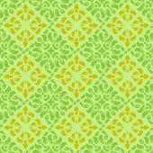 Green-yellow wallpaper pattern — Stock Vector