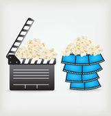 Movie Clapper Board — Stock Vector