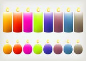 Colorful candle — Stock Vector