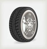 Car wheel. — Stock Vector