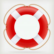 Royalty-Free Stock Vector Image: Red Life Buoy