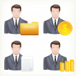 Avatars of a male and in business suits. — Stock Vector