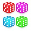 Color Box Dice 3D Illustration — Stock Vector