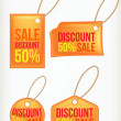 Set discount labels — Stock Vector