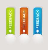 Feedback Labels — Stock Vector