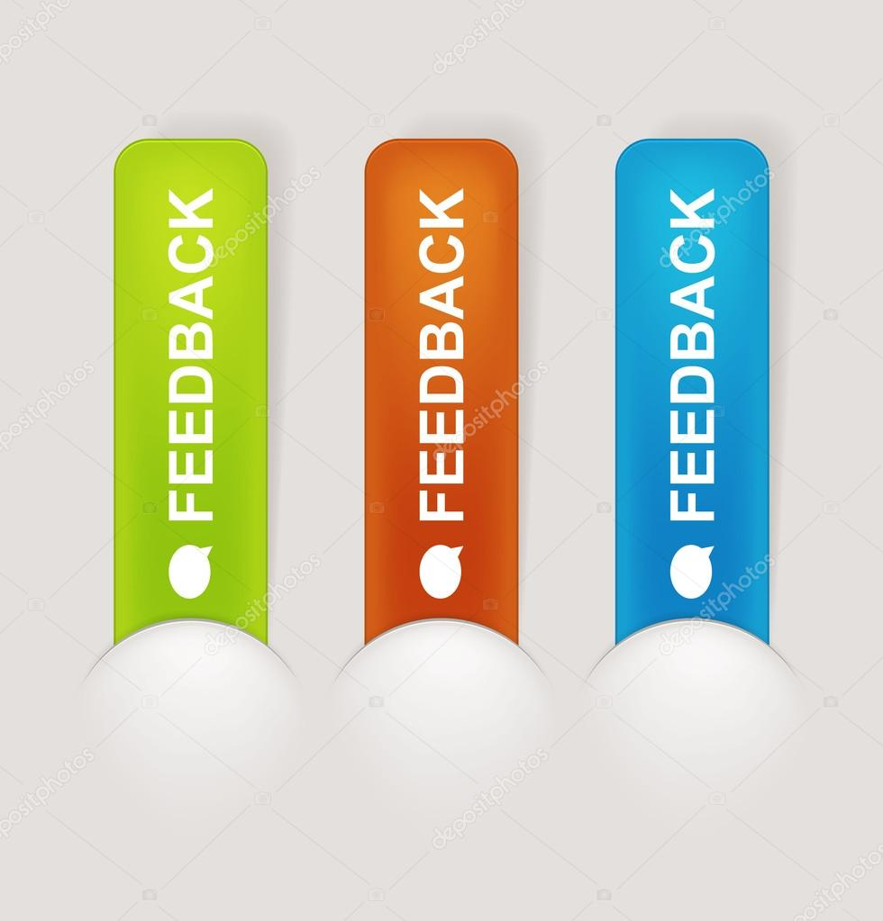 Feedback Labels of the web page — Stock Vector #17402131