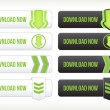 Set of download buttons - Image vectorielle