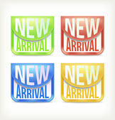 New arrival stickers — Stock Vector