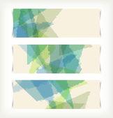 バナーのセットです。抽象的な背景. — ストックベクタ