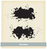 Black spots, watercolor — Stock Vector