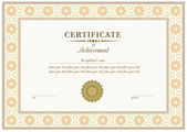 Vector red certificate — Wektor stockowy