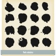 Black ink blots — Stock Vector