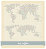 Map halftone vector — Wektor stockowy