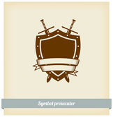 Label Prosecutor — Stock Vector