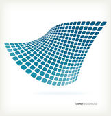 Abstract blue mosaic wave vector background — Stock Vector