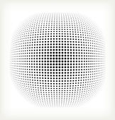 Vector halftone circle — Vector de stock