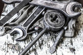 Old tools on a table — Stock Photo