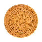 An empty wicker dish on white background. — Stock Photo