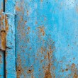 Grunge seamless background blue rusty metal — Stock Photo