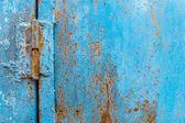 Métal rouillé bleue transparente fond grunge — Photo