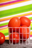 Red tomatoes in a container — Stockfoto