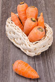 Basket with carrots — Stock Photo