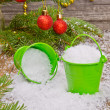 Buckets with snow — Stock Photo #34235313