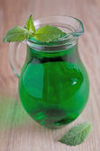 Mint syrup — Stock Photo