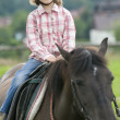 Ride on horseback — Stock Photo