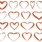 Red vector hearts — Stock Vector #39991049