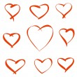 Red vector hearts — Stock Vector #39991045