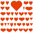 Red vector hearts — Stock Vector #39991047