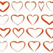 Red vector hearts — Stock Vector