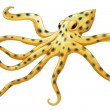 Blue-ringed octopus — Stock Vector