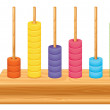 Mathematical place value abacus — 图库矢量图片 #14066611