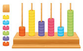 Mathematical place value abacus — Stock vektor