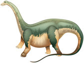 Illustration of an Apatosaurus — Stock Vector