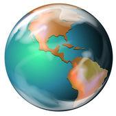 Tierra - el tercer planeta desde el sol — Vector de stock
