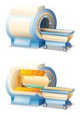 MRI machine — Stock Vector