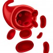 Stock Vector: Red blood cells