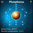 Stock Vector: Phosphorus