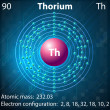 Stock Vector: Thorium