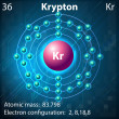 Krypton — Stock Vector