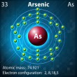 Arsenic — Stock Vector