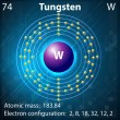 Tungsten — Stock Vector