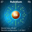 Rubidium — Stock Vector