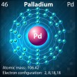 Palladium — Stock Vector