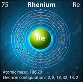 Rhenium — Stock Vector
