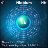 Niobium — Stock Vector